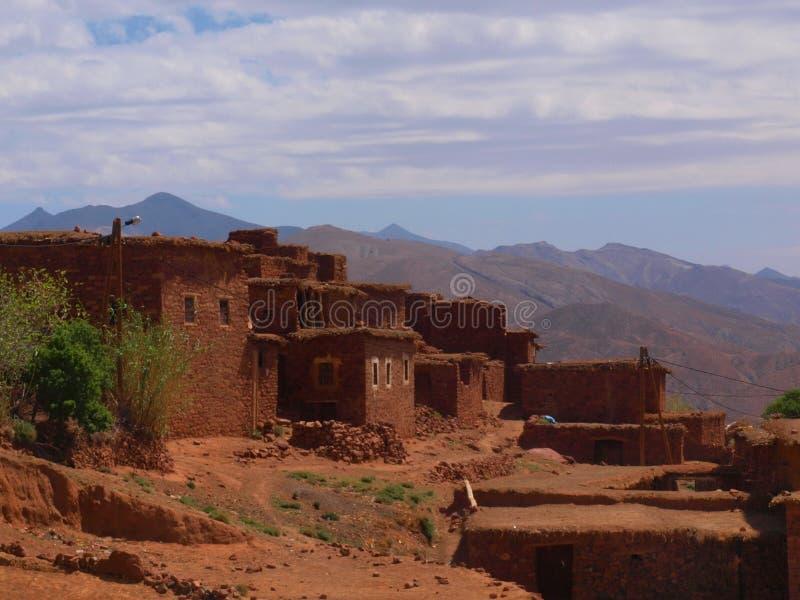高地图集的,摩洛哥石村庄 图库摄影