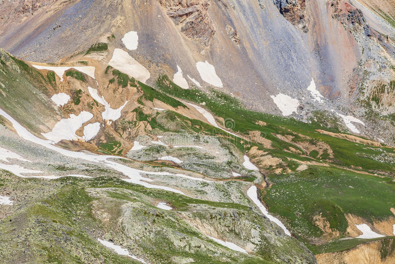 高处山表面 库存图片