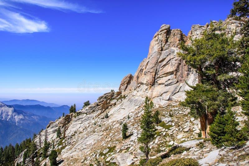 高处风景在美洲杉国家公园 图库摄影