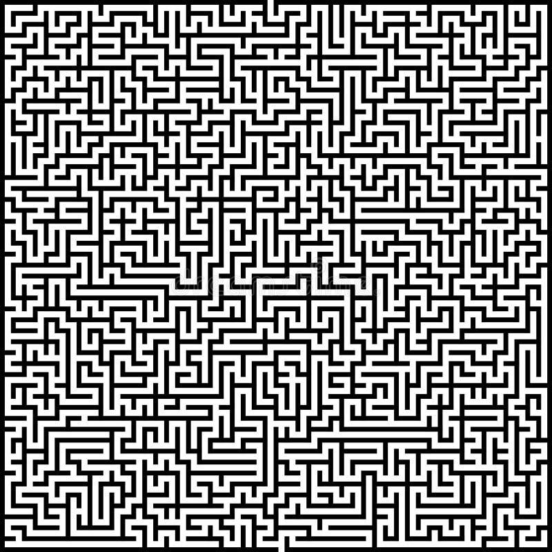 高复杂抽象传染媒介迷宫  向量例证
