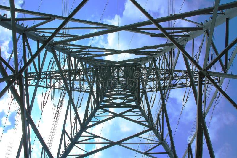 高定向塔电压 免版税图库摄影