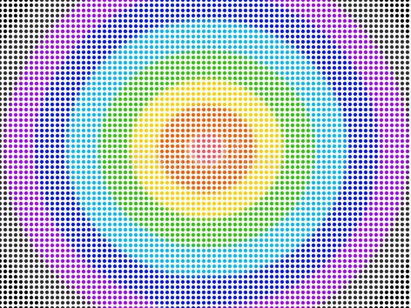 高密度五颜六色的光点图形无缝 向量例证