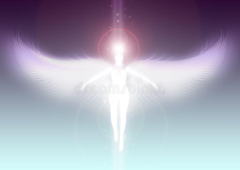 登高对天堂的天使 皇族释放例证