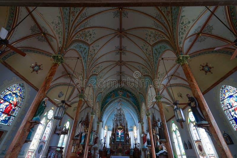 高小山的得克萨斯被绘的教会 图库摄影