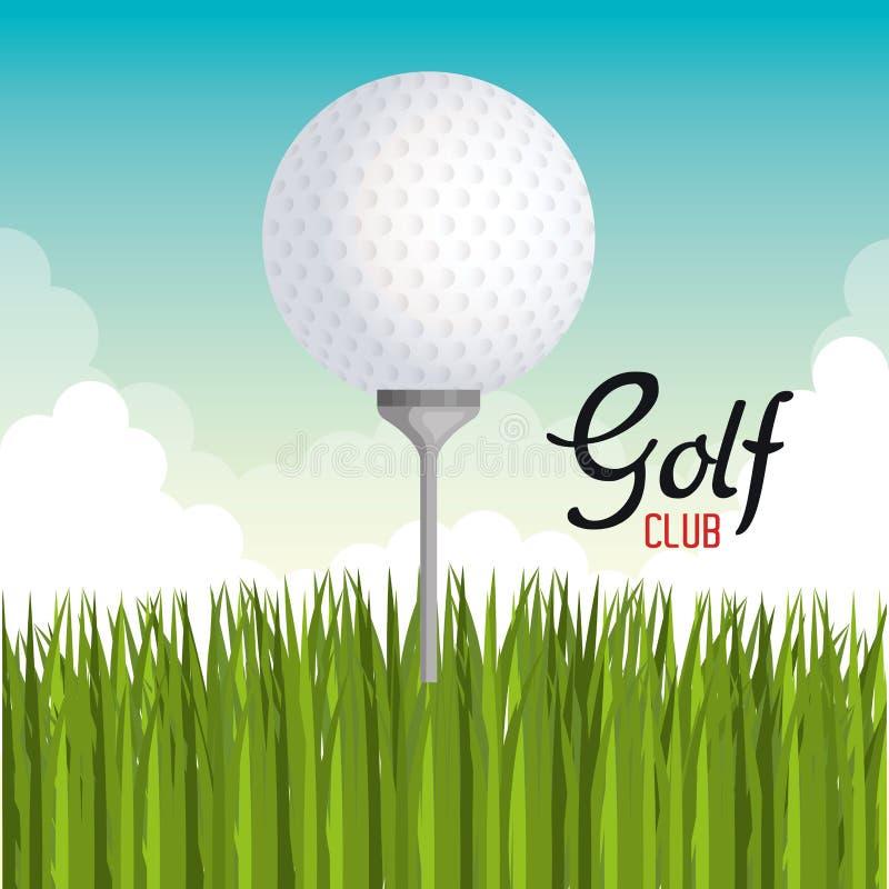 高尔夫俱乐部体育象 皇族释放例证