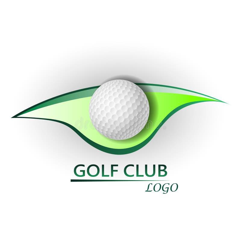 高尔夫俱乐部商标 向量例证