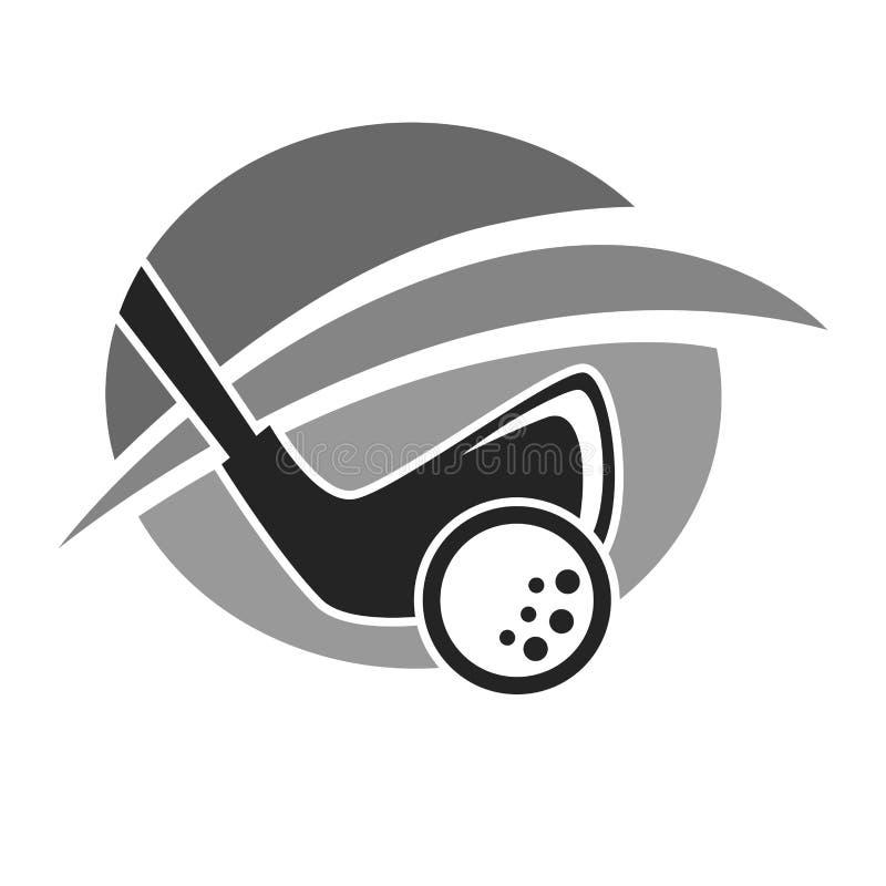 高尔夫俱乐部或高尔夫球运动员国家体育队传染媒介象 库存例证