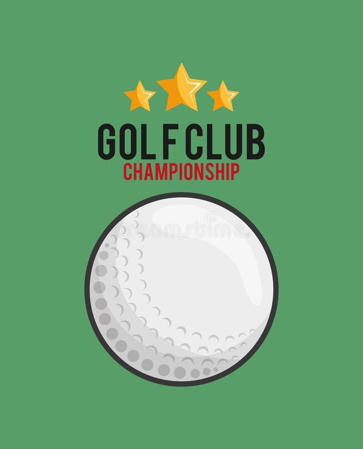 高尔夫俱乐部打高尔夫球的相关象图象 库存例证