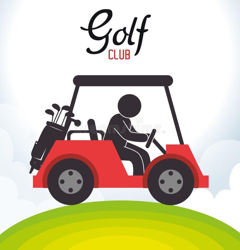 高尔夫俱乐部推车象 皇族释放例证