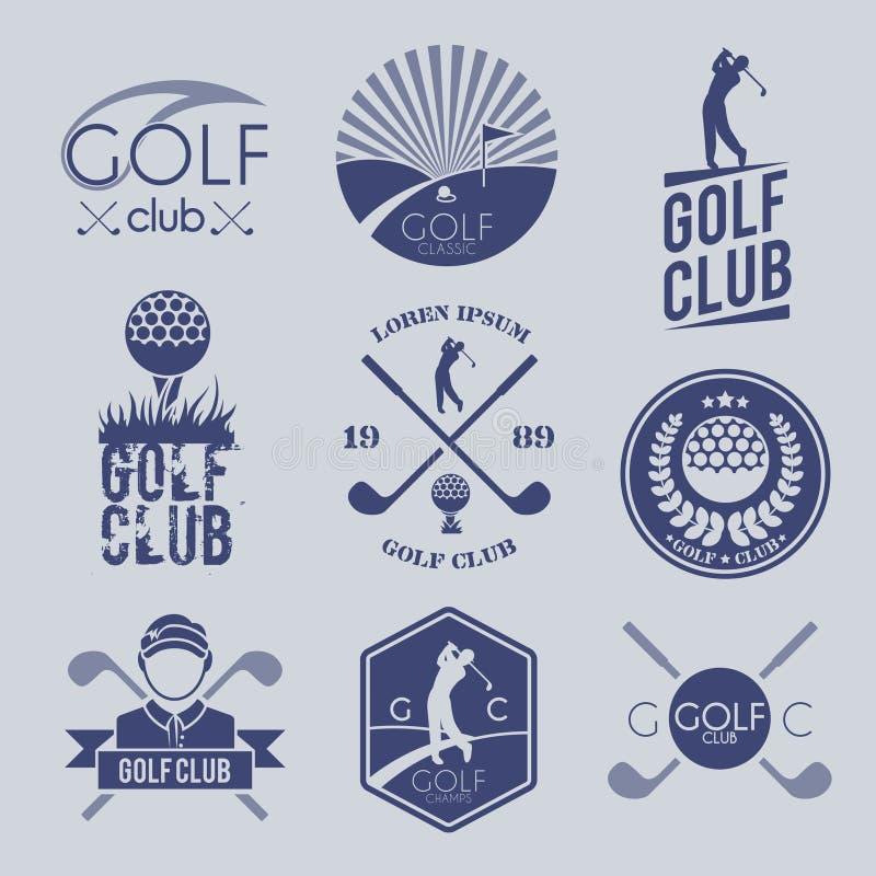 高尔夫俱乐部标签 库存例证