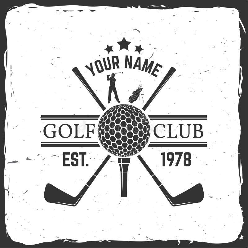高尔夫俱乐部概念 向量例证