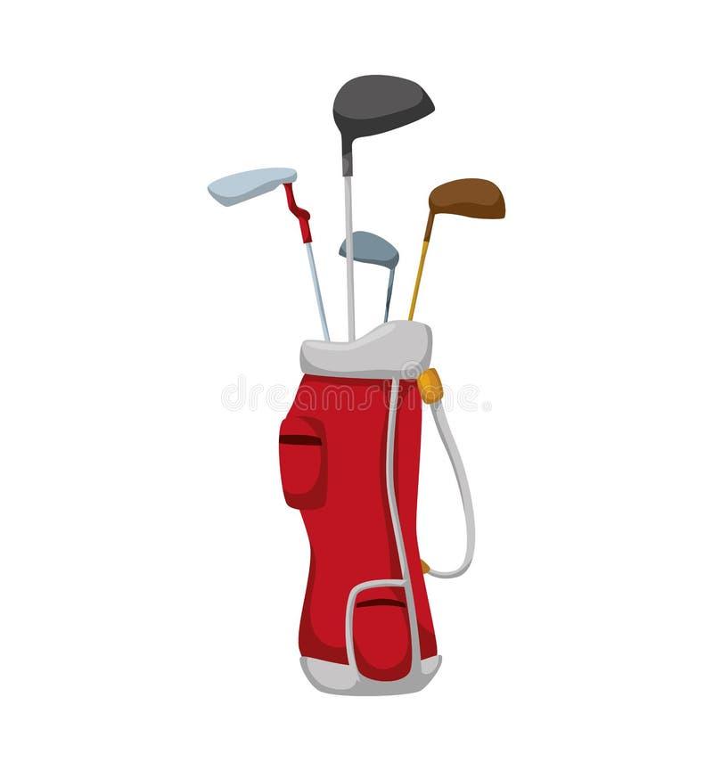 高尔夫俱乐部象 概念查出的体育运动白色 背景装饰图象风格化漩涡向量挥动 皇族释放例证