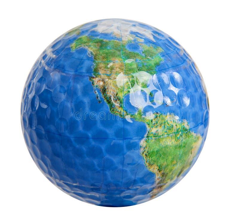 高尔夫球世界 向量例证