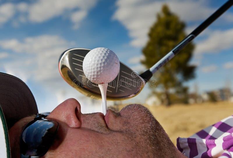 高尔夫球人发球区域 免版税库存图片