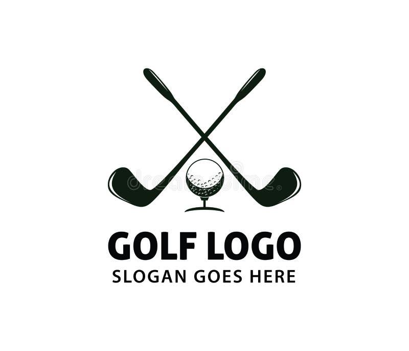 高尔夫球体育路线领域社区冠军同盟传染媒介商标设计 库存例证