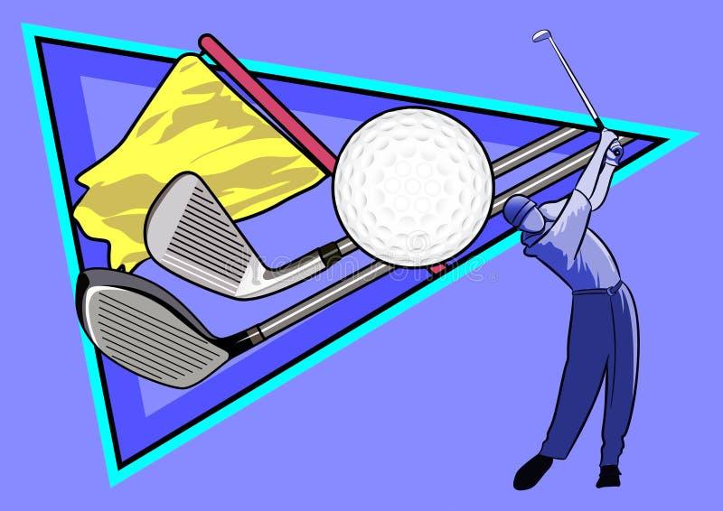高尔夫球体育  免版税库存图片