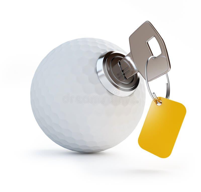 高尔夫球关键字 库存例证