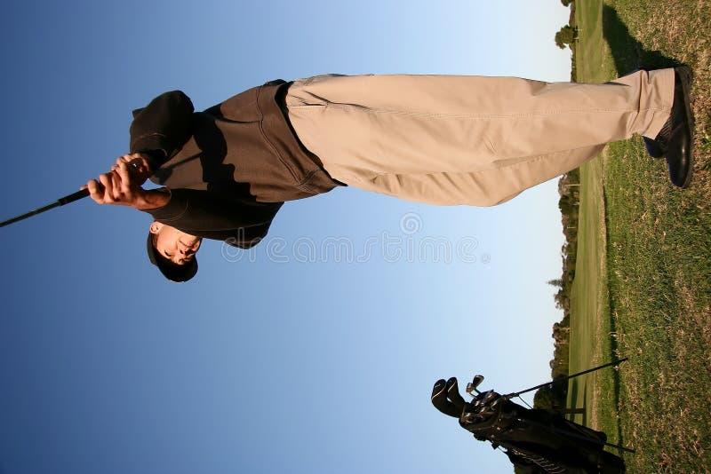 高尔夫球冲程 免版税库存照片