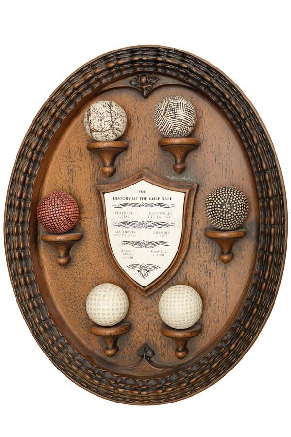 高尔夫球历史记录 图库摄影