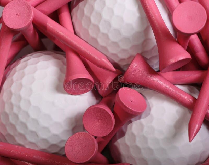 高尔夫球发球区域 免版税库存照片