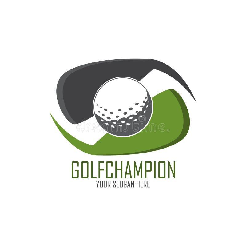 高尔夫球商标设计 向量例证