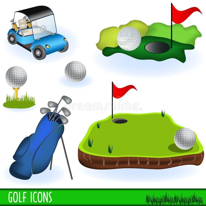 高尔夫球图标 向量例证