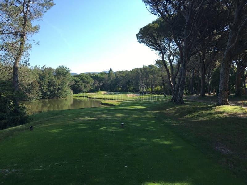 高尔夫球在法国 库存图片