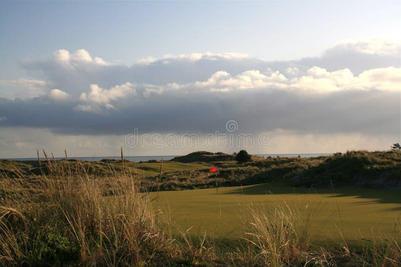 高尔夫球场海洋 库存照片
