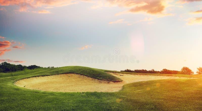 高尔夫球场,发射点 库存照片
