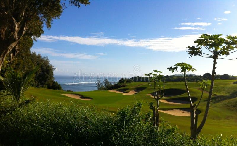 高尔夫球场Kaui海岛夏威夷 免版税图库摄影