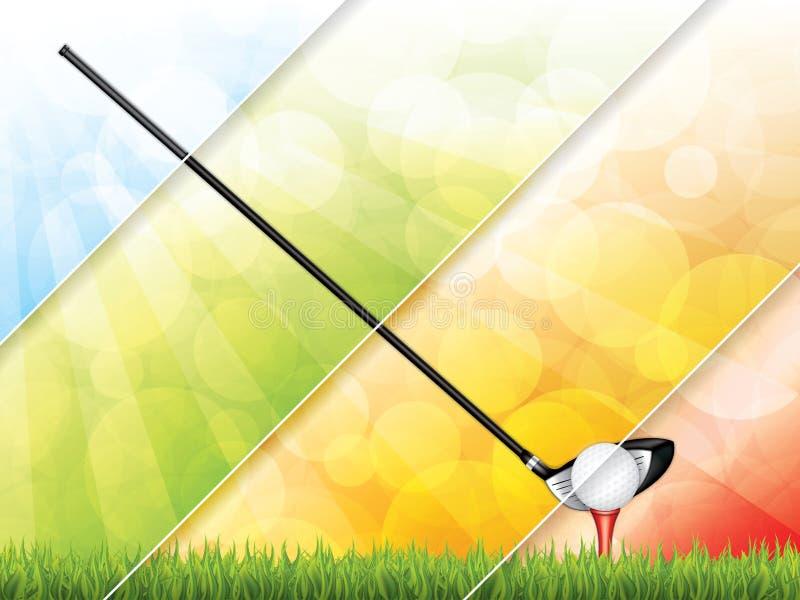 高尔夫球小册子 皇族释放例证