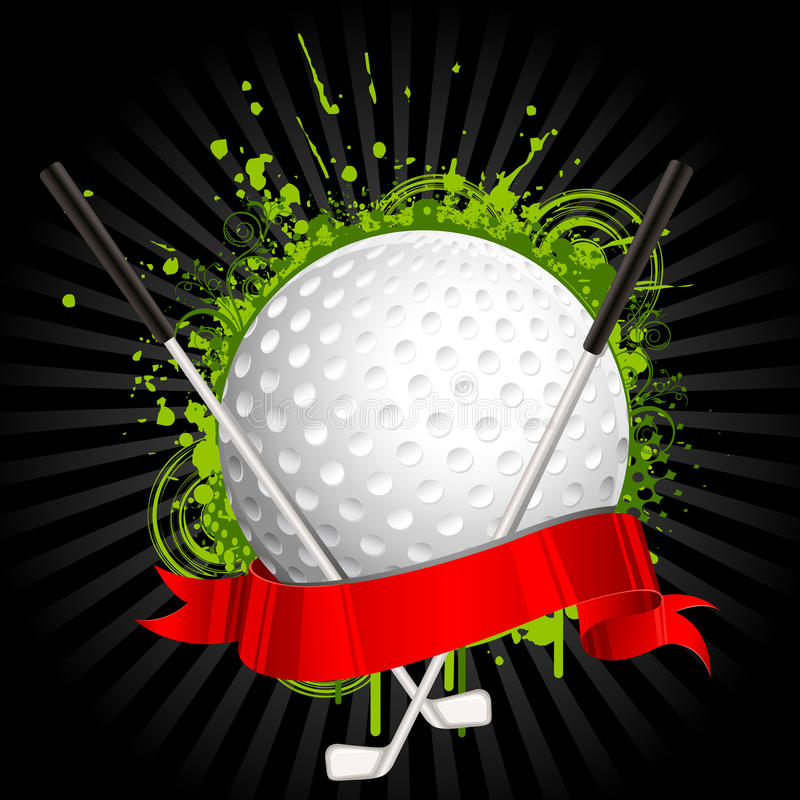 高尔夫球工具箱 库存例证