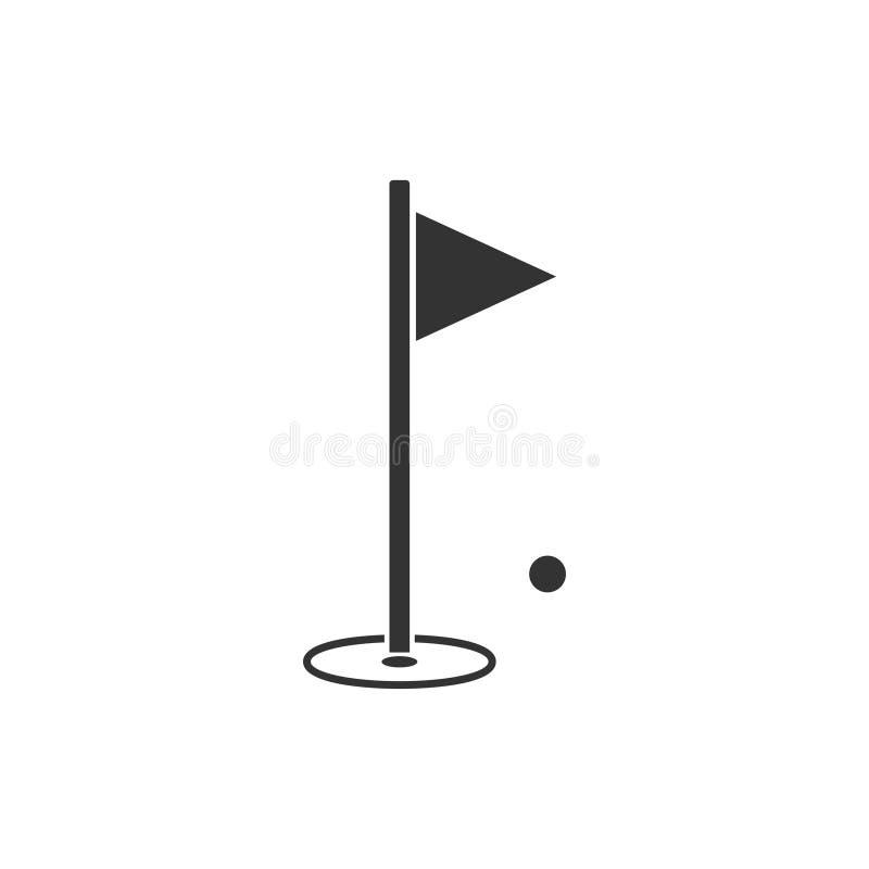 高尔夫球平展旗子象 向量例证