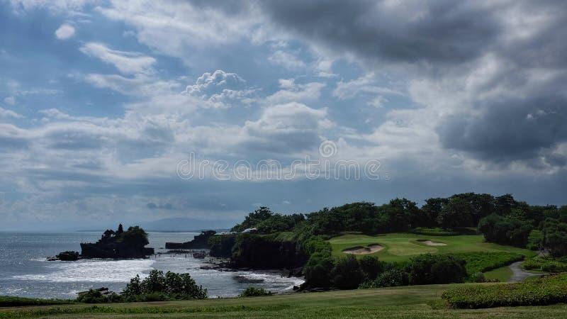 高尔夫球手段巴厘岛 库存图片