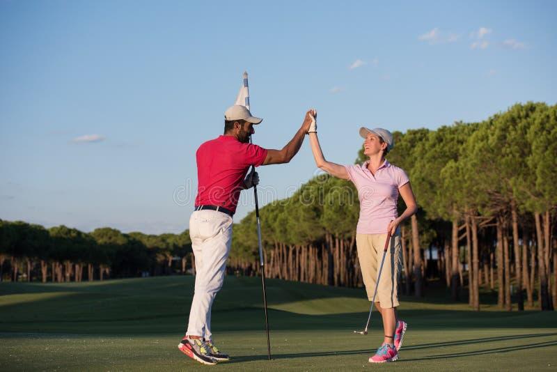 高尔夫球指示 库存照片