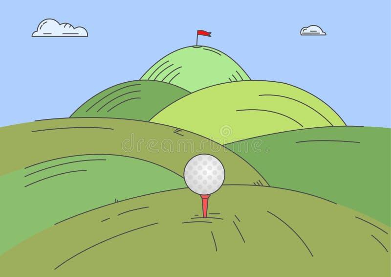 高尔夫球挑战 库存例证