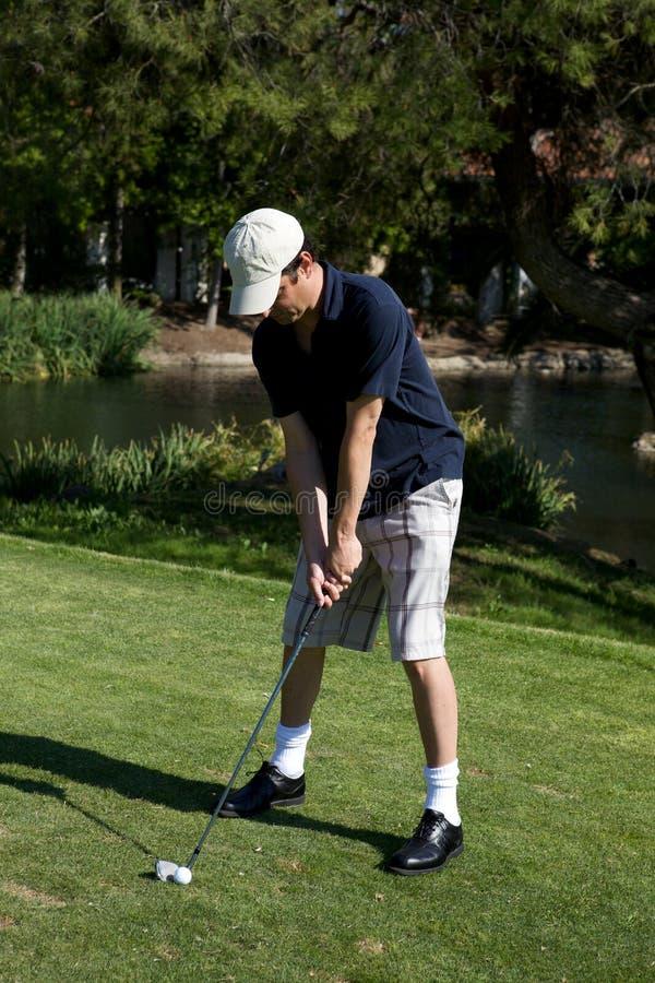 高尔夫球摇摆 免版税图库摄影