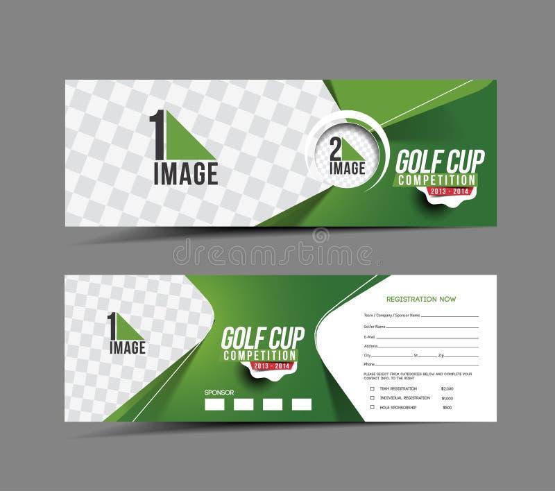 高尔夫球杯横幅 向量例证