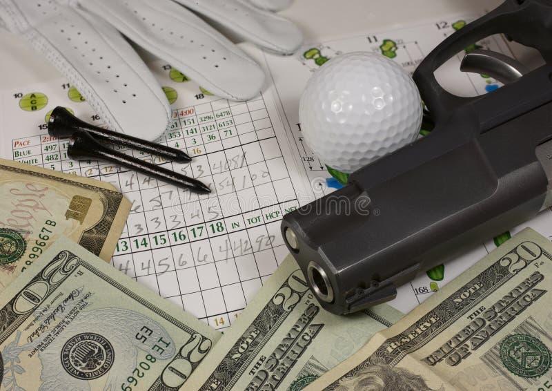 高尔夫球枪 库存照片