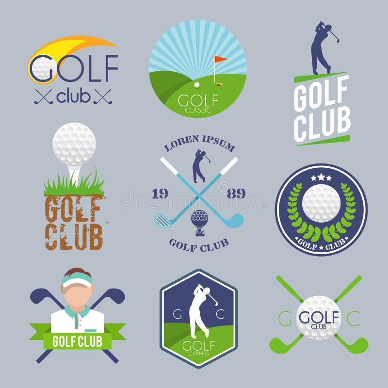 高尔夫球标号组 向量例证