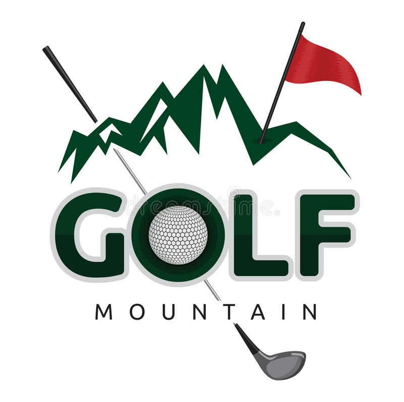 高尔夫球标志 向量例证