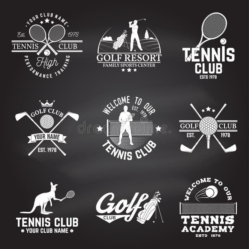 高尔夫球棒,网球俱乐部概念 也corel凹道例证向量 向量例证