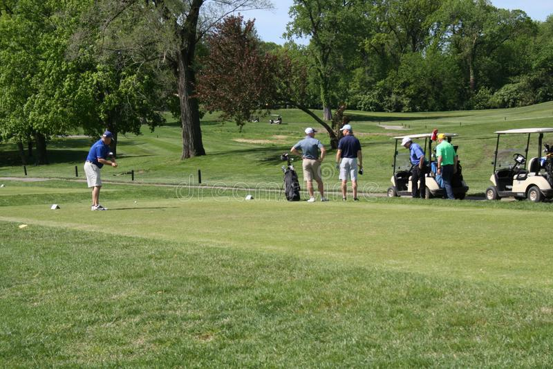 高尔夫球比赛2019年III 免版税图库摄影