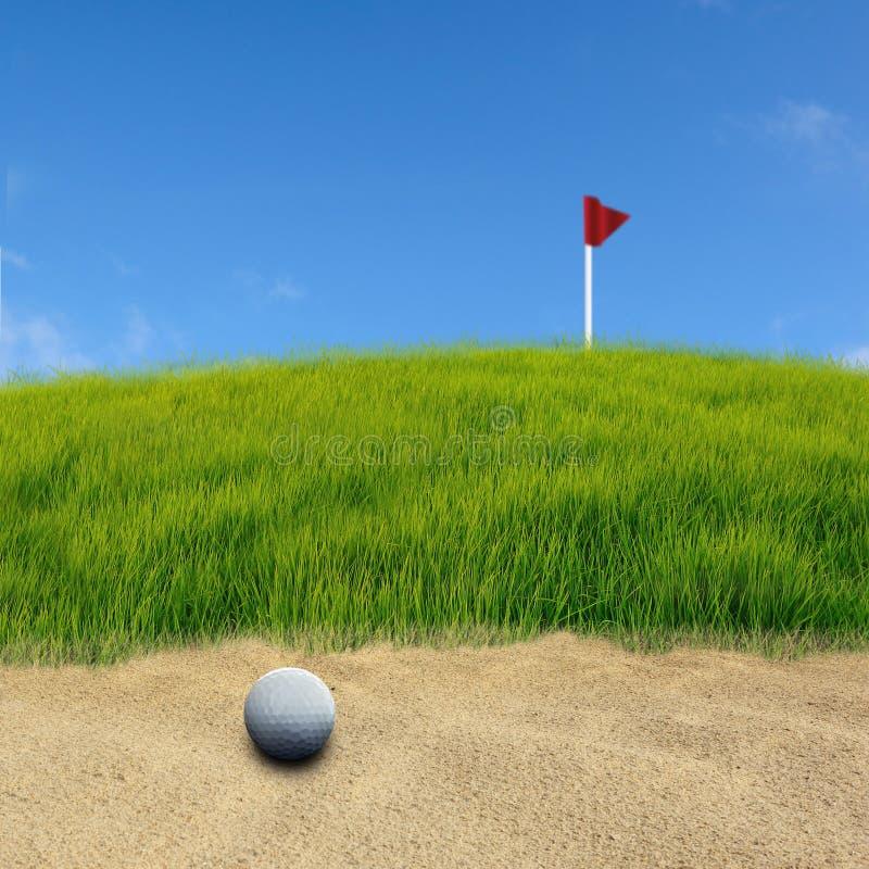 高尔夫球沙子 皇族释放例证