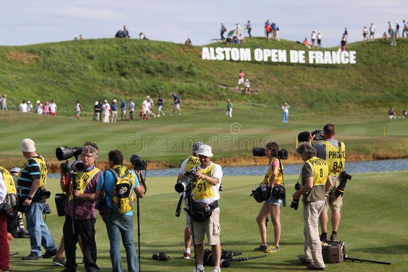 高尔夫球法国公开赛的摄影师2015年 免版税库存图片
