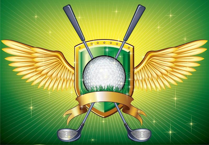 高尔夫球盾 向量例证