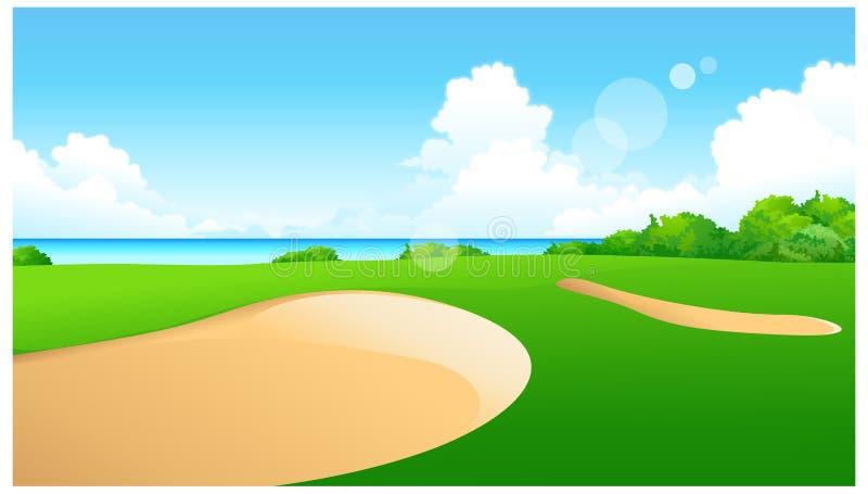 高尔夫球看法  向量例证