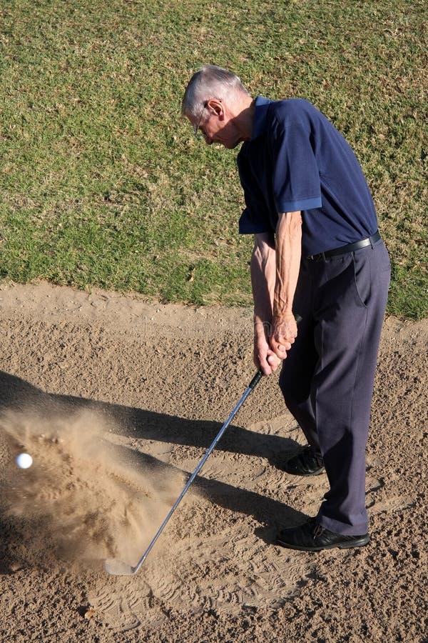 高尔夫球砂槽 库存图片