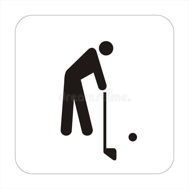 高尔夫球符号体育运动 皇族释放例证