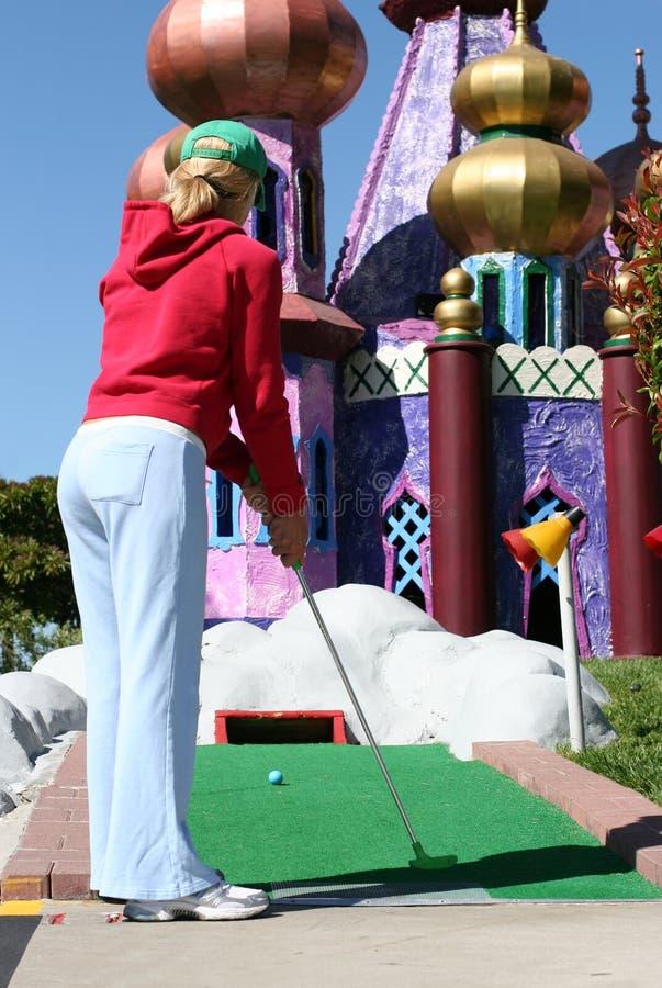 高尔夫球缩样 免版税库存照片